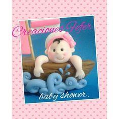 bebe marinera baby shower en masa flexible realizado por jennifer arcia de rojas.