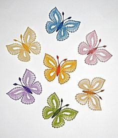 motýle :: Needle Tatting, Tatting Lace, Needle Lace, Scrap Quilt Patterns, Bobbin Lace Patterns, Crochet Butterfly Pattern, Bobbin Lacemaking, Bruges Lace, Point Lace