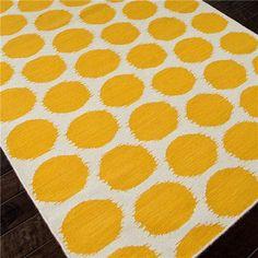 Jaipur Maroc Amar White/Mango Flat Weave Rug