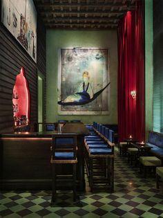 "Gramercy Park Hotel redesigned in a ""Renaissance"" color palette"