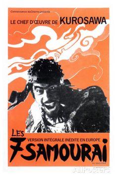 Seven Samurai, French Movie Poster, 1954 プレミアムポスター