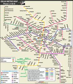 Delhi Metro Map Trips