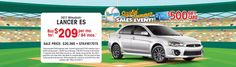 Take home a Lancer for $209 a month at Russ Darrow Mitsubishi
