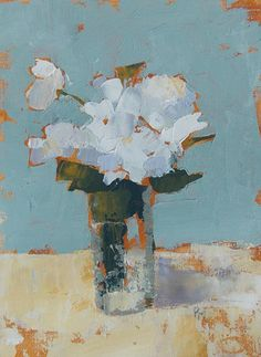 art painting flowers, white roses painting, still life white flowers, white roses, 9x12 spring flower series, acrylic painting