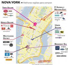Mapa Compras em NY