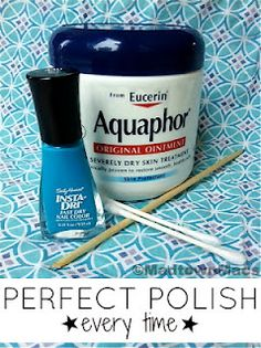 Perfect Polish Every Time!  ~Let's talk toes. And eyes. Funny how the two effect one another lol.  My aging eyes are making it hard to paint my toenails. (Really it's just a logistic problem. If I could get the two closer together, I'd be set.) I've been using this trick for awhile and thought I'd share.