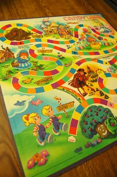Candy Land game board, I loved this game!