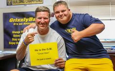 Emry Himes, who has Down syndrome, has become an essential part of the Franklin College football team's success after joining the program as GM. College Football Teams, Football Stadiums, Sister Carrie, Franklin College, Down Syndrome People, Team Success, One Of The Guys, Lineman, Coaching