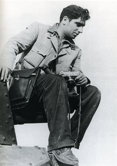 Robert Capa in China with a Contax II