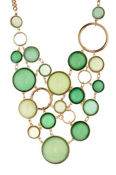 To go with the green dress | Ippoli Bubble Bib Necklace