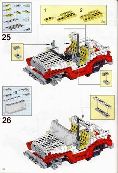 LEGO 5591 Mach II Red Bird Rig instructions displayed page by page to help you build this amazing LEGO Model Team set Lego Truck, Lego Castle, Lego Models, Lego Instructions, Cool Lego, Toys Shop, Lego Sets, Rigs, Planer