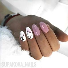 ideas for nails 2018 oval Trendy Nails, Cute Nails, My Nails, Shellac Nails, Nail Polish, Nailart, Nails 2018, Oval Nails, Nail Swag