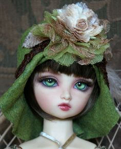Gorgeous Green Felt Flapper Style Hat For Ball by roweena23, $35.00