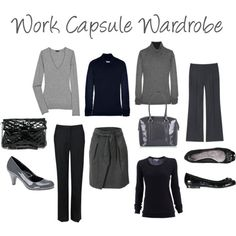 capsule wardrobe gray and black   French Capsule Wardrobe on Pinterest   French Wardrobe Basics, Project ...