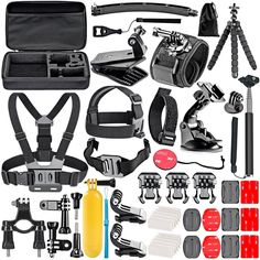 Neewer 50-In-1 Action Camera Accessory Kit for GoPro Hero Session/5 Hero 1 2 3 3+ 4 5 SJ4000 5000 6000 DBPOWER AKASO VicTsing APEMAN WiMiUS Rollei QUMOX Lightdow Campark And Sony Sports DV and More  $19.99