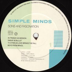 Simple Minds - Sons And Fascination (A Side label)