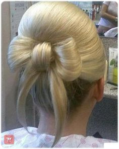 Hair bow   My sister did this for her semi formal it was a huge hit!!!!