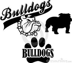 Illustration about Vector Images of Bulldog Mascot Logos. Illustration of cartoon, sports, mascots - 16892775 Bulldogs Basketball, Bulldogs Team, Bulldog Mascot, Georgia Bulldogs, Silhouette Cameo Projects, Silhouette Design, Bulldog Drawing, School Spirit Shirts, Team Mascots