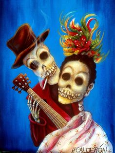 Day of the Dead 'The Serenade' signed print by artist by HCalderon, $10.00
