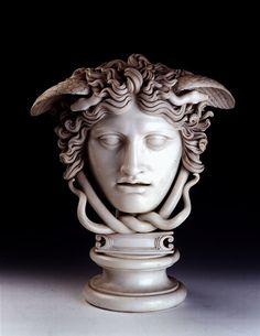Head of Medusa. 1764.Joseph Nollekens. British 1737-1823. marble.http://hadrian6.tumblr.com