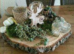 kerststuk op hout