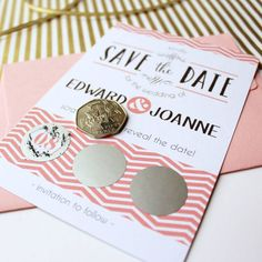 Scratch Off Wedding Save The Date Cards