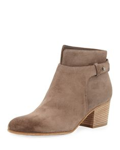 VINCE Harriet Suede Ankle Boot, Limestone. #vince #shoes #