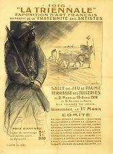 Original Vintage Poster Theophile Alexandre Steinlen World War I 1916 French Art