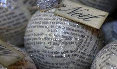 Palline+di+Natale+con+la+carta+di+giornale