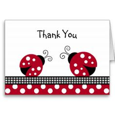 Shop Polka Dot Red Ladybug Thank You Note Cards created by little_prints. Personalize it with photos & text or purchase as is! Thank You Note Cards, Custom Thank You Cards, Custom Cards, Ladybug Crafts, Ladybug Party, Personalized Invitations, Get Well Cards, Your Cards, Making Ideas