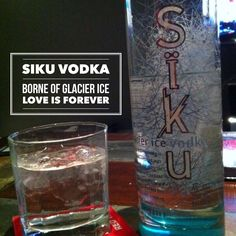 Ever consumed a drink made of ice up to 60000 years old?  Of Greenland? Siku = forever! #vodka  #cocktails #greenland