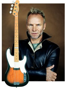 Sting on his Fender Bass