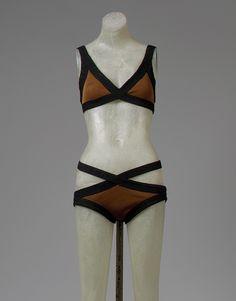 Rudi Gernreich (American, born Austria, 1922–1985). Bikini, 1970–71. American. The Metropolitan Museum of Art, New York. Purchase, Irene Lewisohn Bequest, 1996 (1996.118.4a, b)