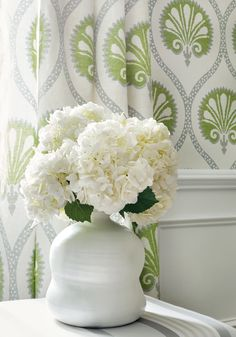 Kimberly wallpaper and fabric from Greenwood Collection   Thibaut