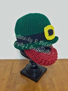 Irish Bowler and Beard Leprechaun Hat   by Simply2Irresistible, $2.99