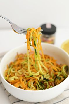 Roasted, Easy, Herby Spiralized Vegetables + 13 More Spiralized Recipes! - Fit Foodie Finds