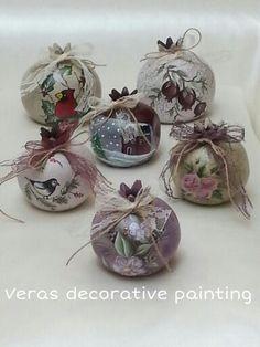 Christmas Crafts, Christmas Ornaments, Decoupage, Glass, Handmade, Painting, Handmade Christmas Crafts, Xmas Ornaments, Hand Made