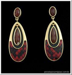 bijuteria fina semijoia folheada a ouro com pedra preciosa pedra brasileira phiton