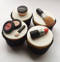 MAC makeup cupcake toppers
