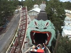 Into the Serpent's Jaws on the Starliner roller coaster at Miracle Strip Amusement Park, Panama City Beach Florida. by stevesobczuk, via Flickr