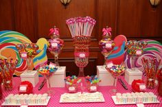 Great mix for a candy buffet Trolls Birthday Party, Birthday Fun, Birthday Parties, Birthday Ideas, Colorful Candy, Pink Candy, Dessert Buffet, Dessert Tables, Candy Crush Party