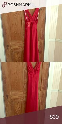 Calvin red dress never worn.. beautifully fitted Tried on once but never worn out Calvin Klein Dresses High Low