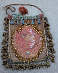 Bohemian Hippie Bag, Ethnic Tribal ,Boho Gypsy,Rococo, Baroque, Tapestry Bag Antique Needlework Plush Gypsy by IzzyRoo, $145.00