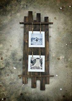 Cornici fai da te, idee creative - Cornice con mensola in legno fai da te