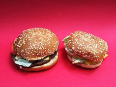 First, we unwrapped the hamburgers.Here's What A McWhopper Actually Looks Like