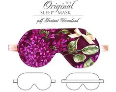 DIGITAL Lingerie Sewing Pattern - The Original Sleep Mask PDF Sewing Pattern - instant download