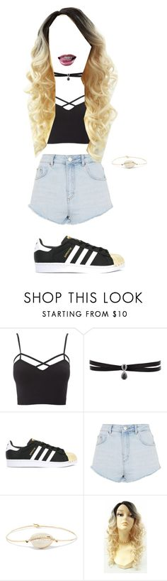 """""""My style😂🌸🤘🏼"""" by erikasing ❤ liked on Polyvore featuring Charlotte Russe, Fallon, adidas, Topshop, Pascale Monvoisin and plus size clothing"""