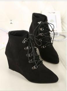 Korean Fashion Cross Strap Martin Boots