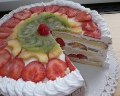 Moje lahodné ovocné torty , recepty, Torty | Tortyodmamy.sk Oreo Cupcakes, Different Cakes, How Sweet Eats, Pavlova, Let Them Eat Cake, Crepes, Baked Goods, Sweet Recipes, Waffles