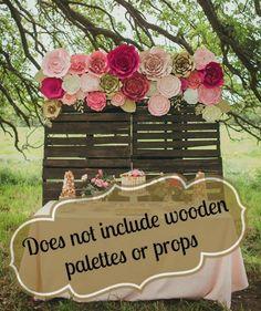 Paper flower backdrop flower wall flower backdrop by PaperFlora